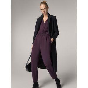 Massimo Dutti Jumpsuit Size 6 Plum Purple Pants